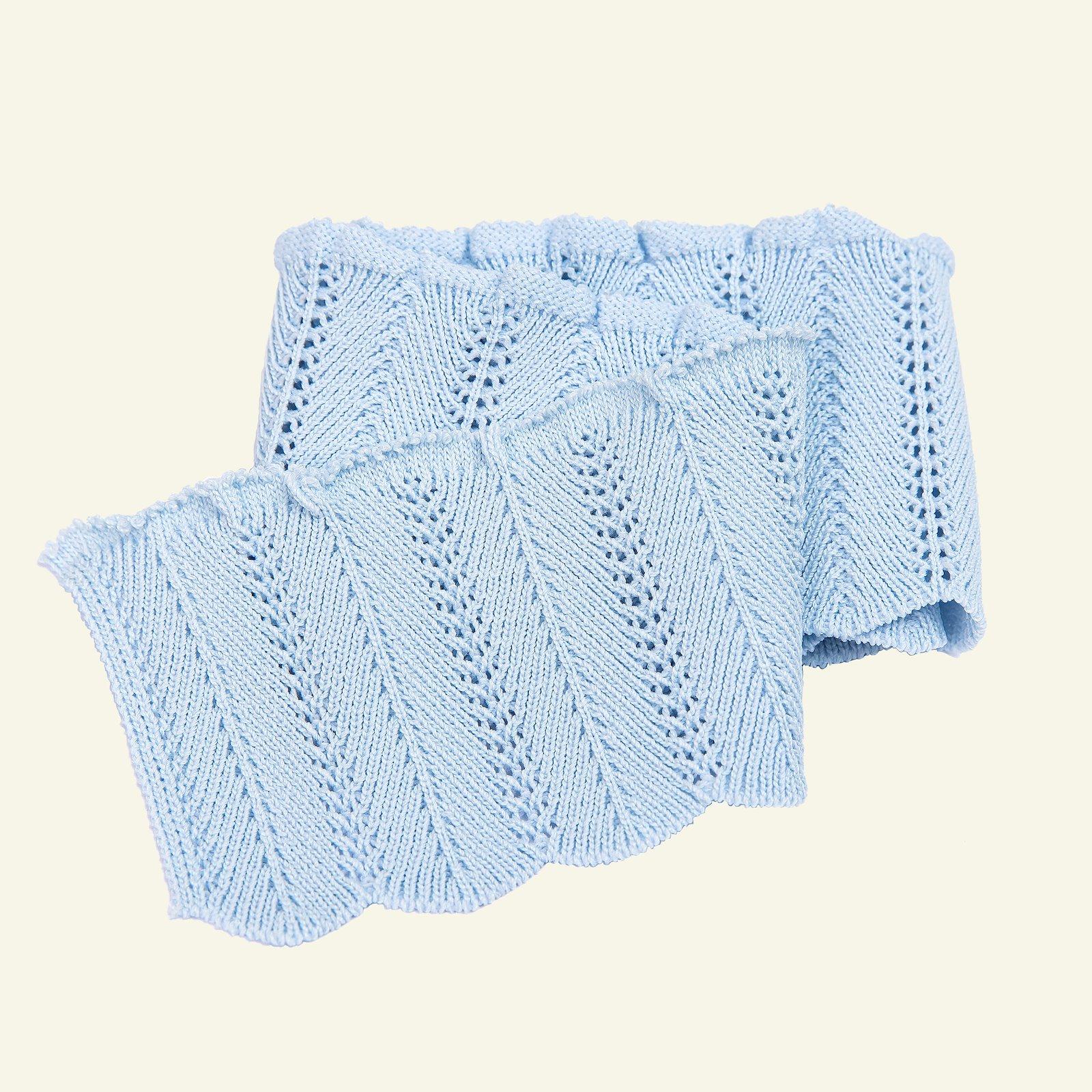 Rib knitted 6x55cm light blue 1pc 96136_pack