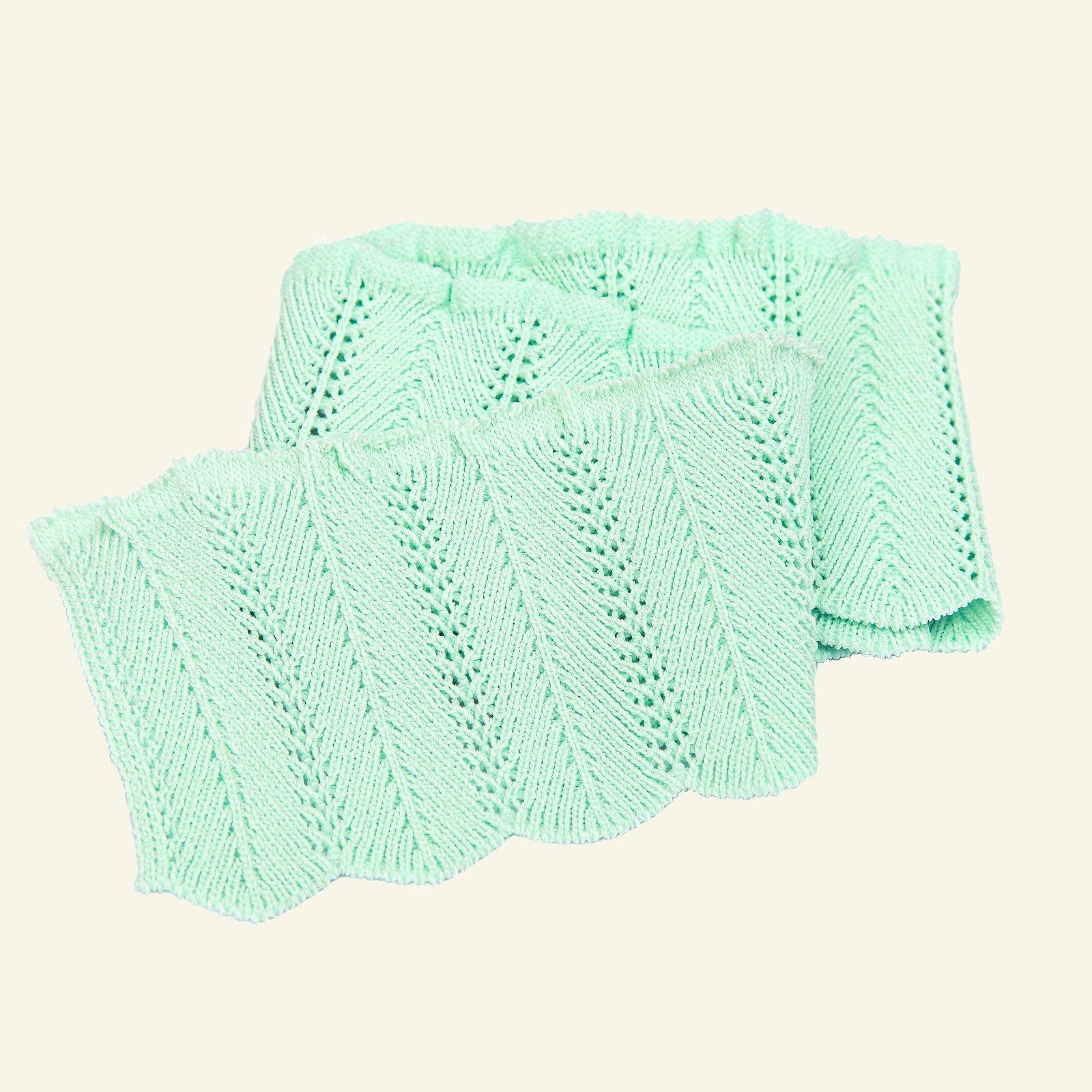 Rib knitted 6x55cm mint green 1pc 96139_pack