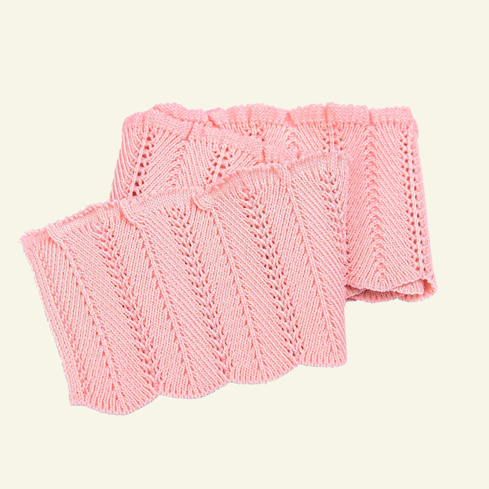 Rib knitted 6x55cm powder pink 1pc 96137_pack
