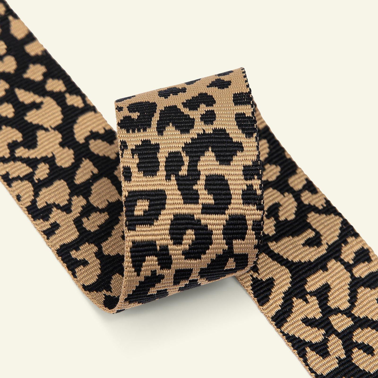 Ribbon 38mm leopard sand/black 2m 21398_pack