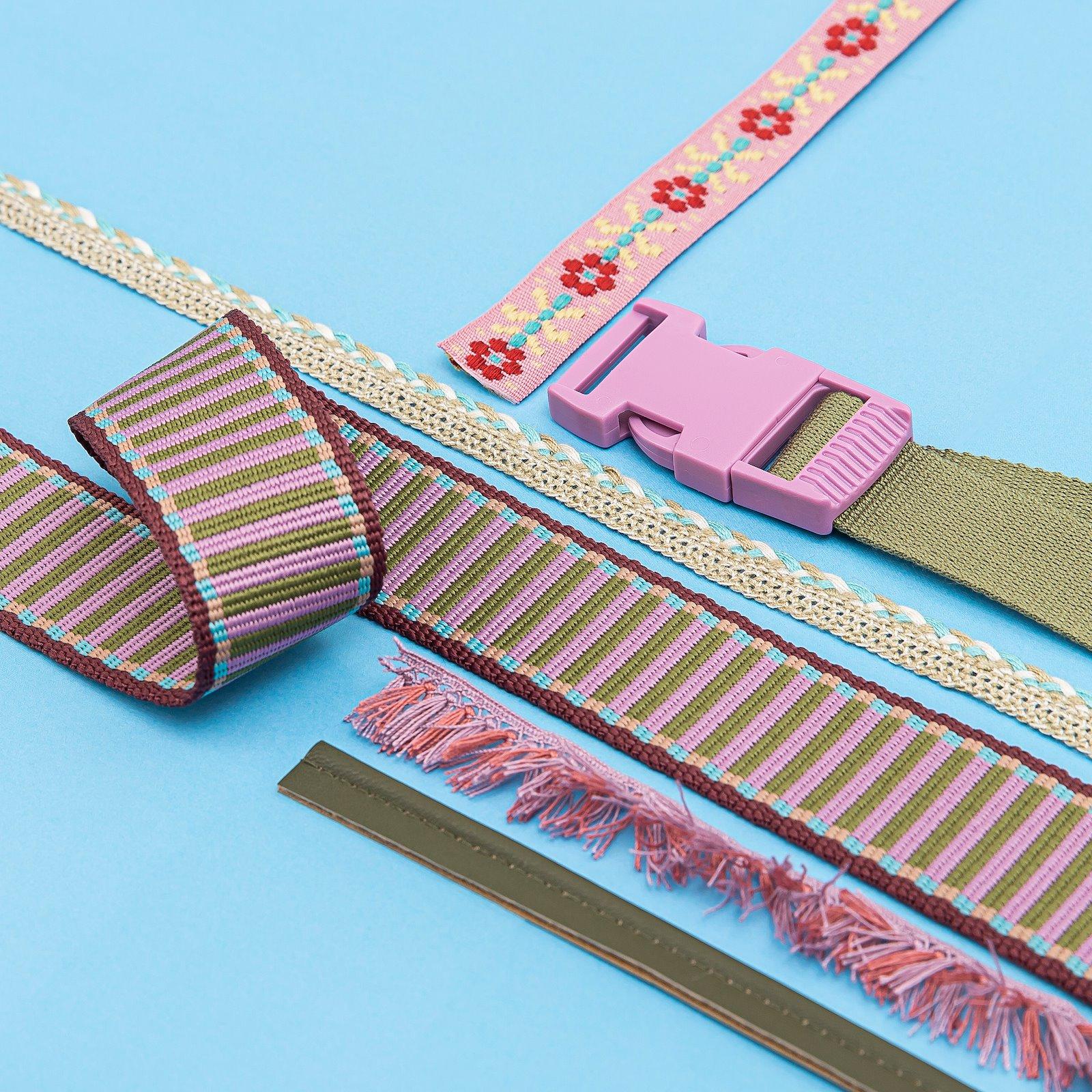 Ribbon braid 12mm beige/light petrol 2m 22226_22295_22411_45201_22299_22239_22374_bundle