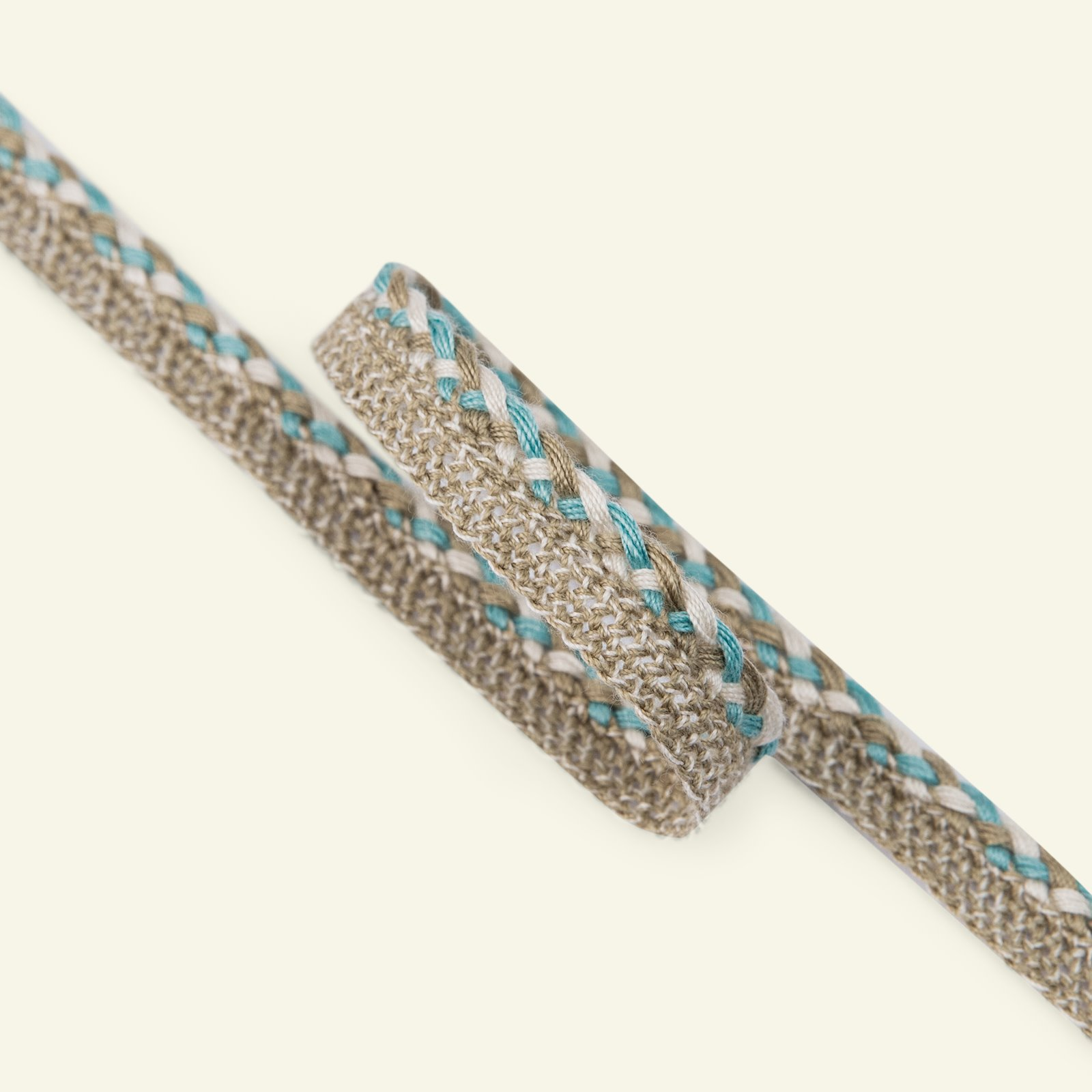 Ribbon braid 12mm beige/light petrol 2m 22226_pack