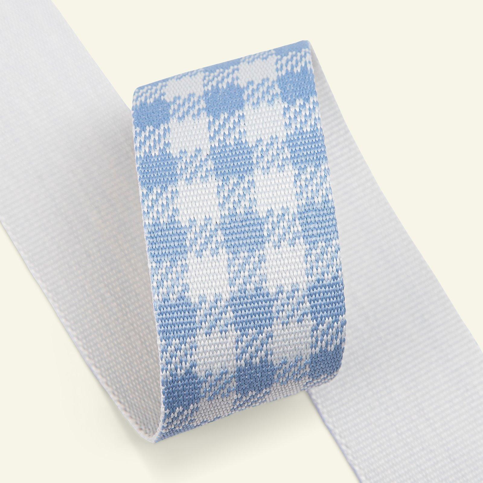 Ribbon check 38mm pastel blue 2m 21464_pack