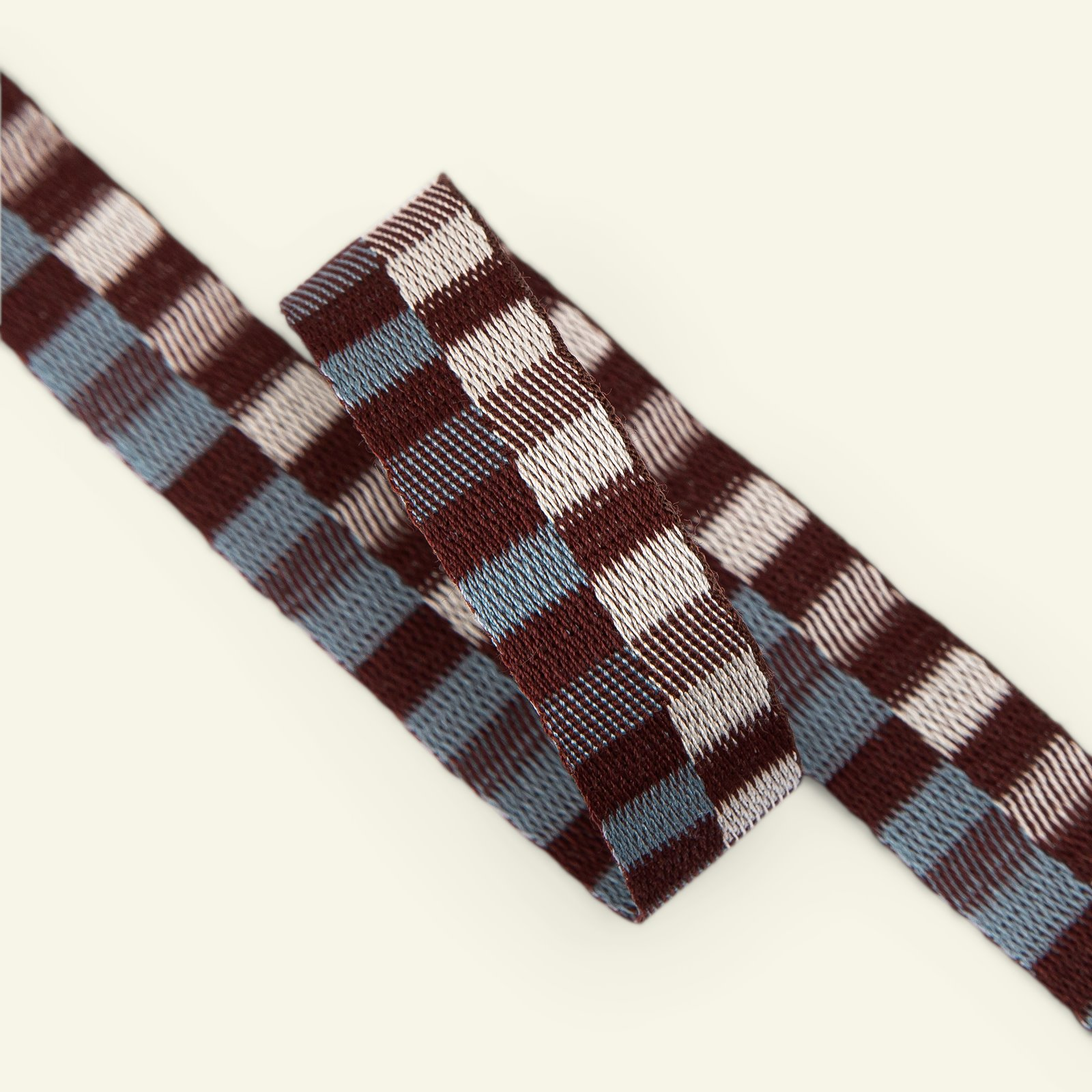 Ribbon check woven 20mm brown/offw. 2m 22398_pack