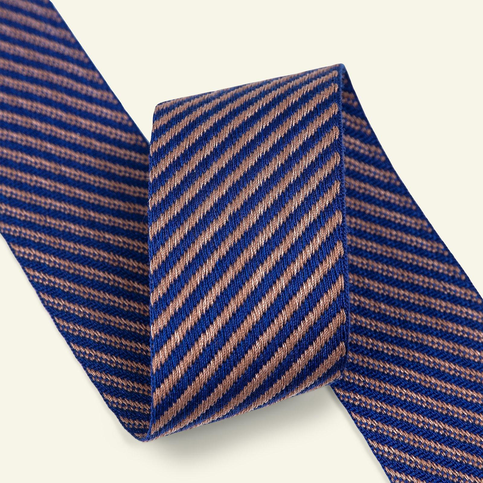 Ribbon diagonal stripe 38mm cob/beige 2m 21451_pack