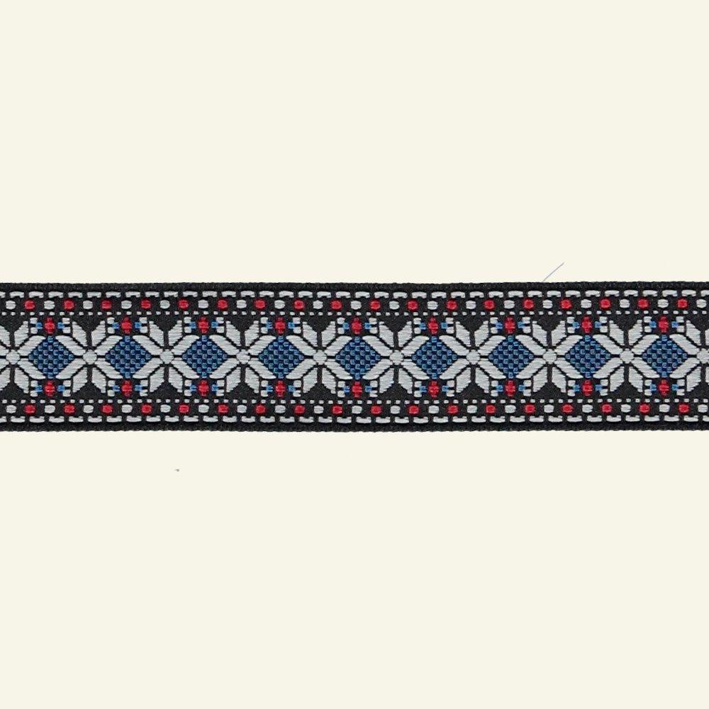 Ribbon jacquard 25mm nordic 3m 20677_pack