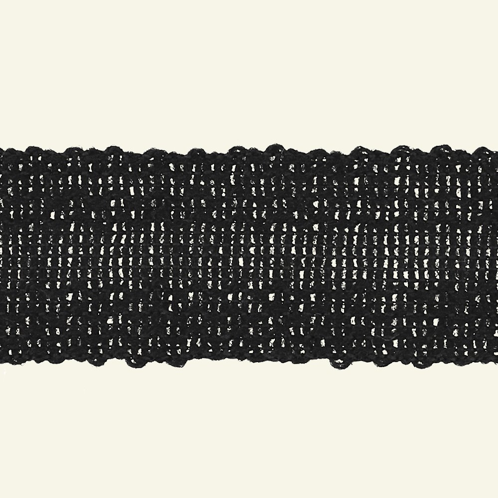 Ribbon knitted 30mm black 3m 82081_pack