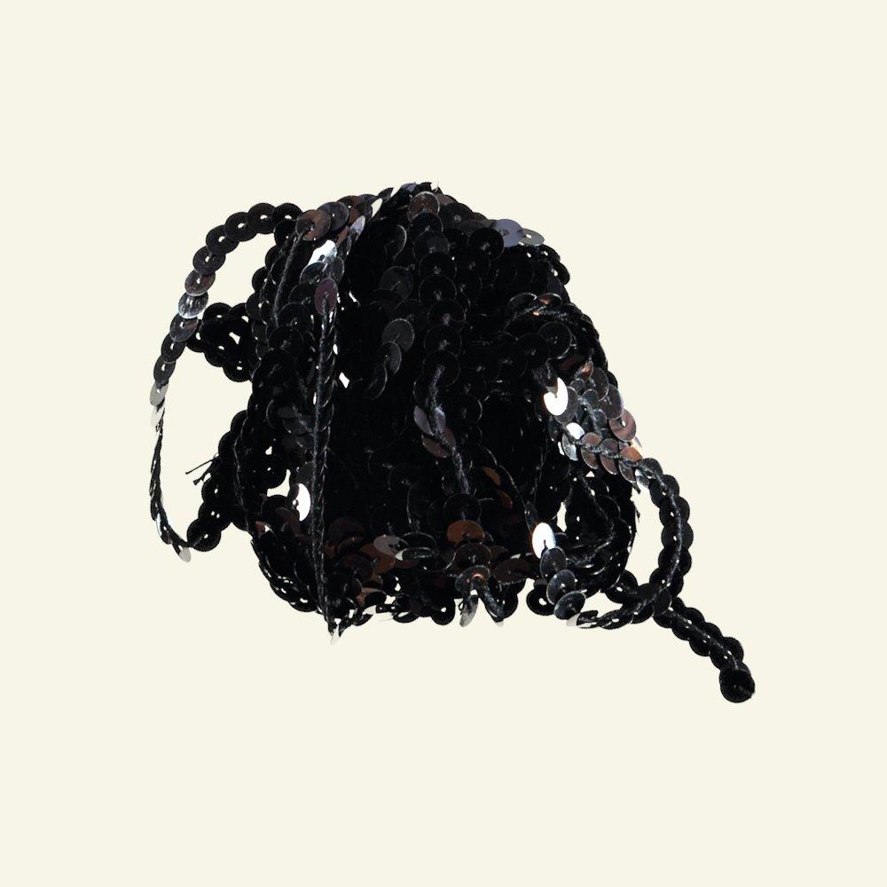 Ribbon sequin 6mm black 5m 96021_pack