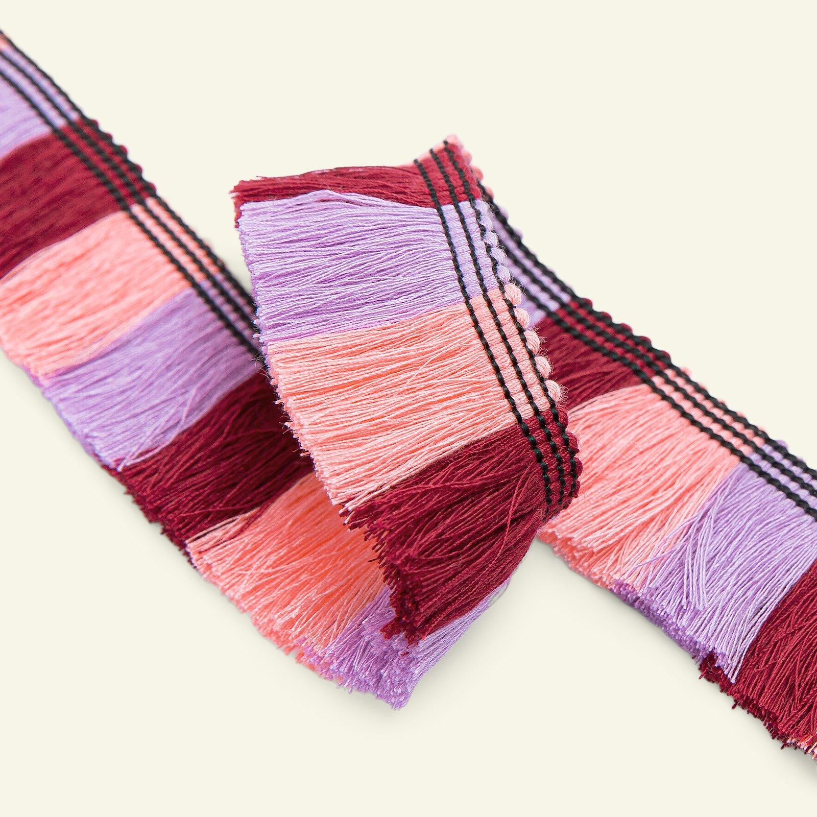 Ribbon w/fringe 30mm bordeaux/rose 2m 22363_pack