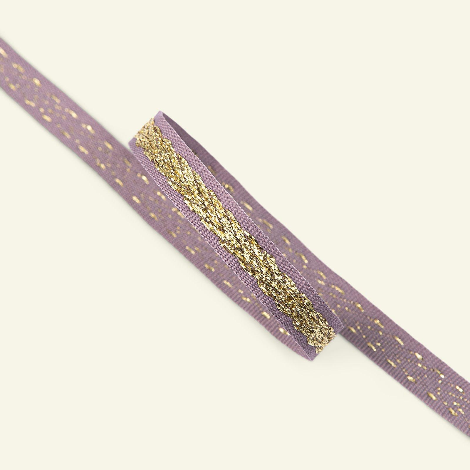 Ribbon woven 10mm light heather 3m 22287_pack