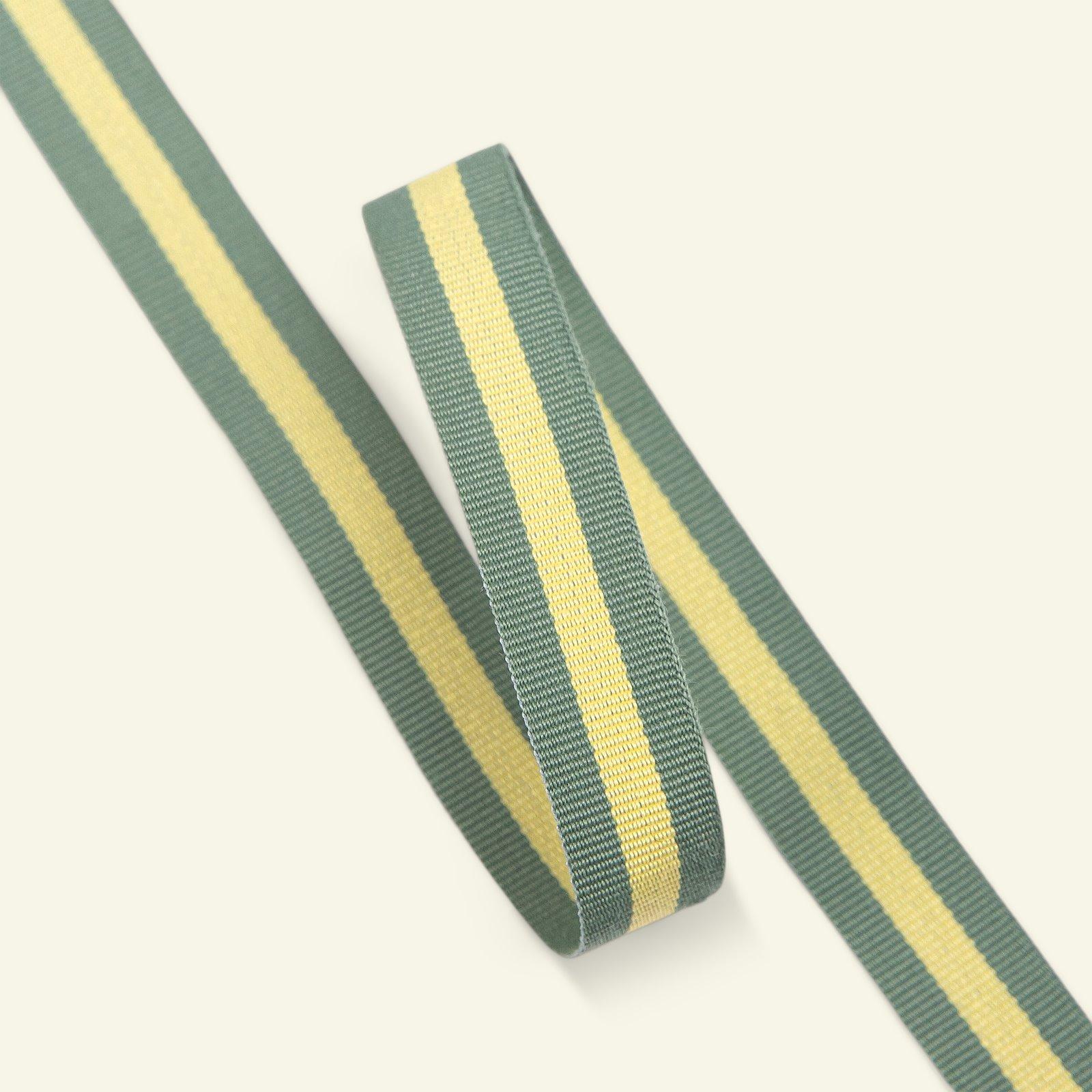 Ribbon woven 15mm sage/lemon 3m 21472_pack