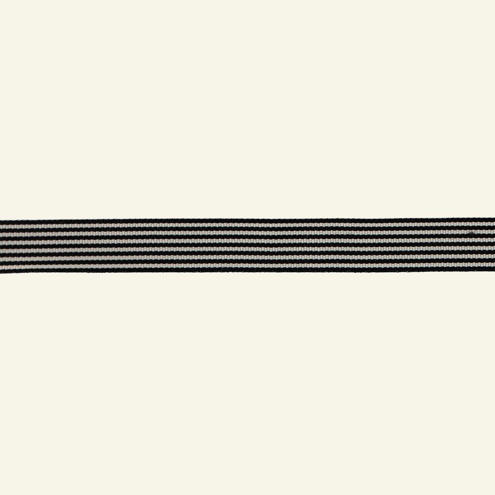 Ribbon woven 20mm black/white 3m 21330_pack