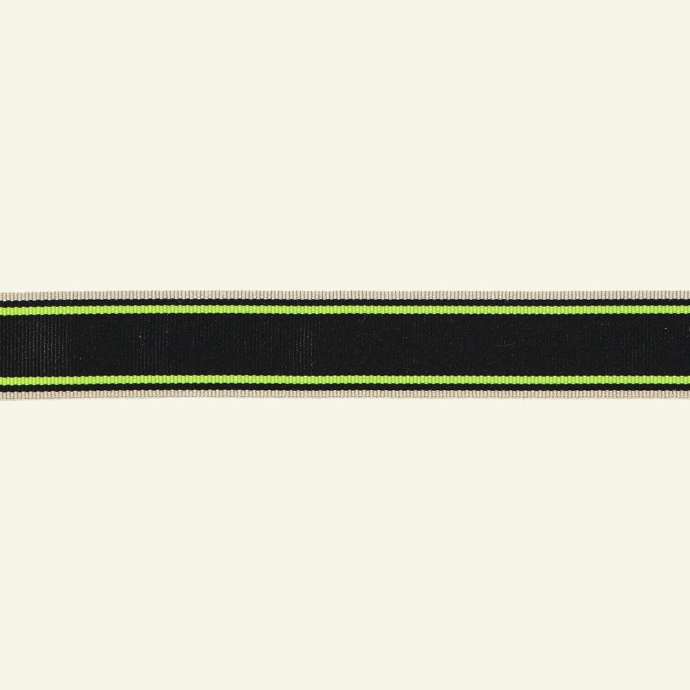 Ribbon woven 30mm black/white/gold 3m 21339_pack