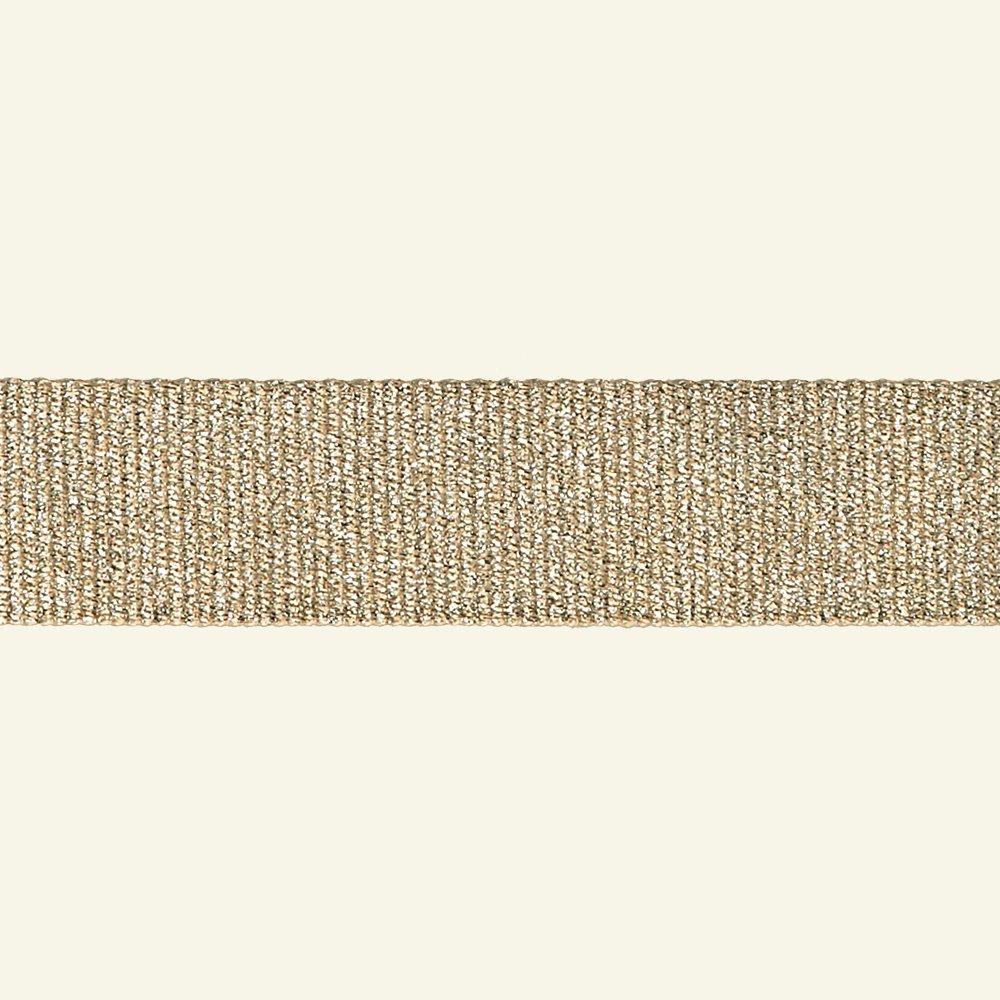 Ribbon woven 32mm sand/gold lurex 3m 80191_pack