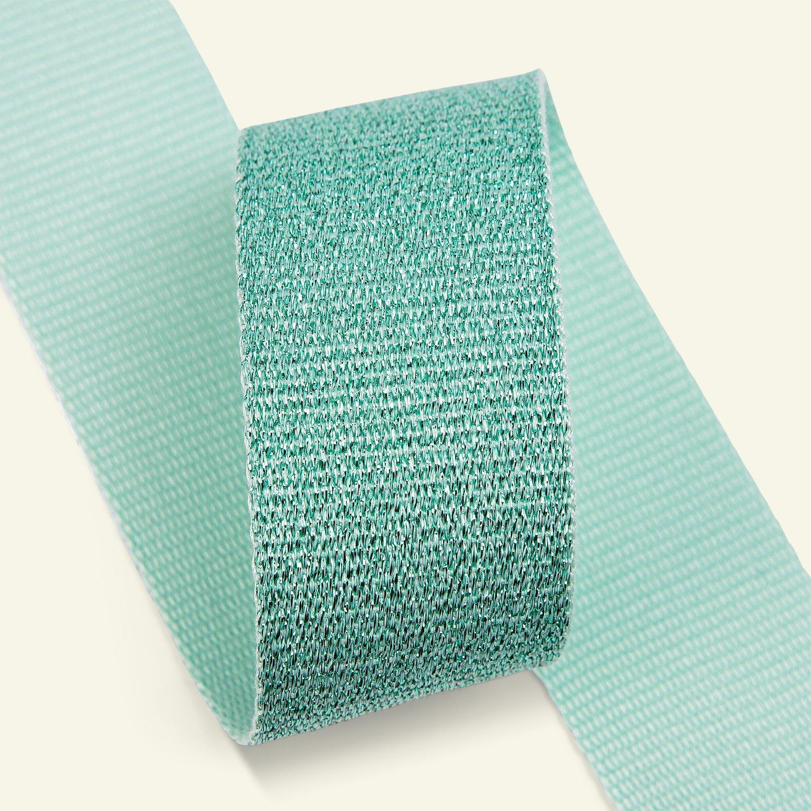 Ribbon woven 38mm mint/mint lurex 2m 21360_pack