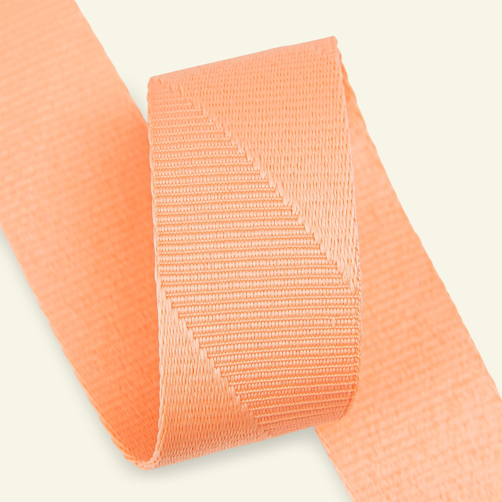 Ribbon woven diag. stripes 38mm coral 2m 82405_pack