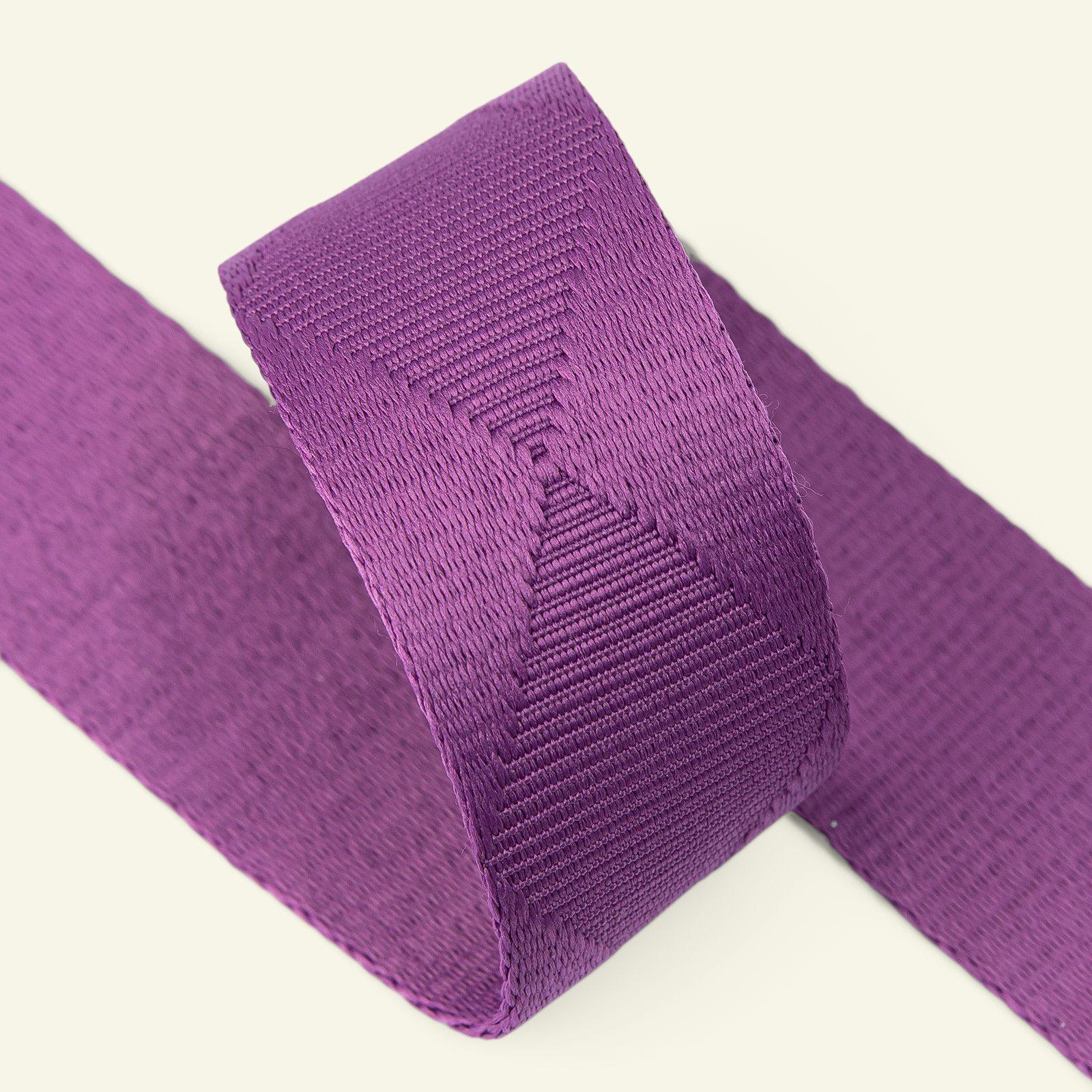 Ribbon woven squares 38mm purple 2m 22293_pack