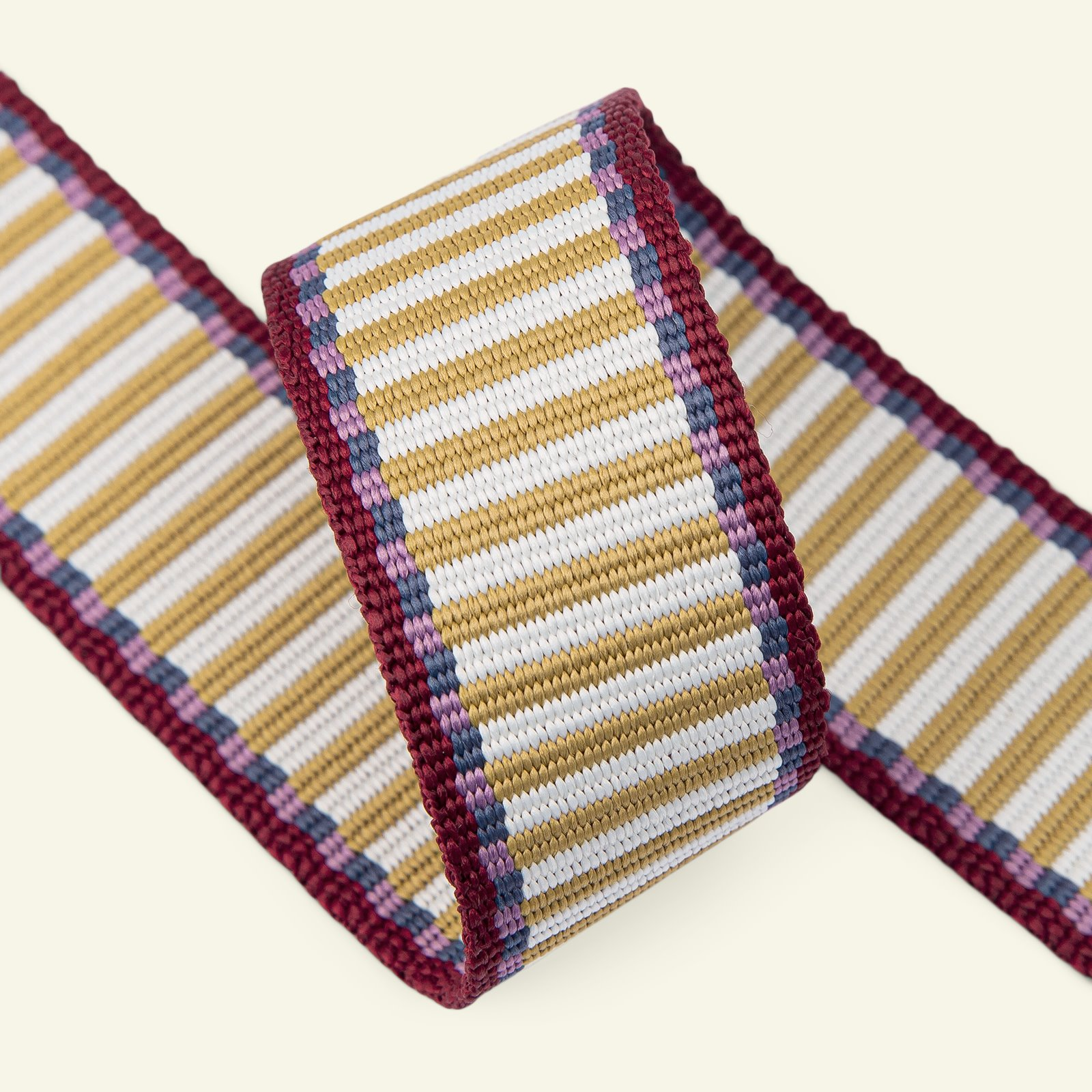 Ribbon woven stripes 38mm offw./curry 2m 22297_pack