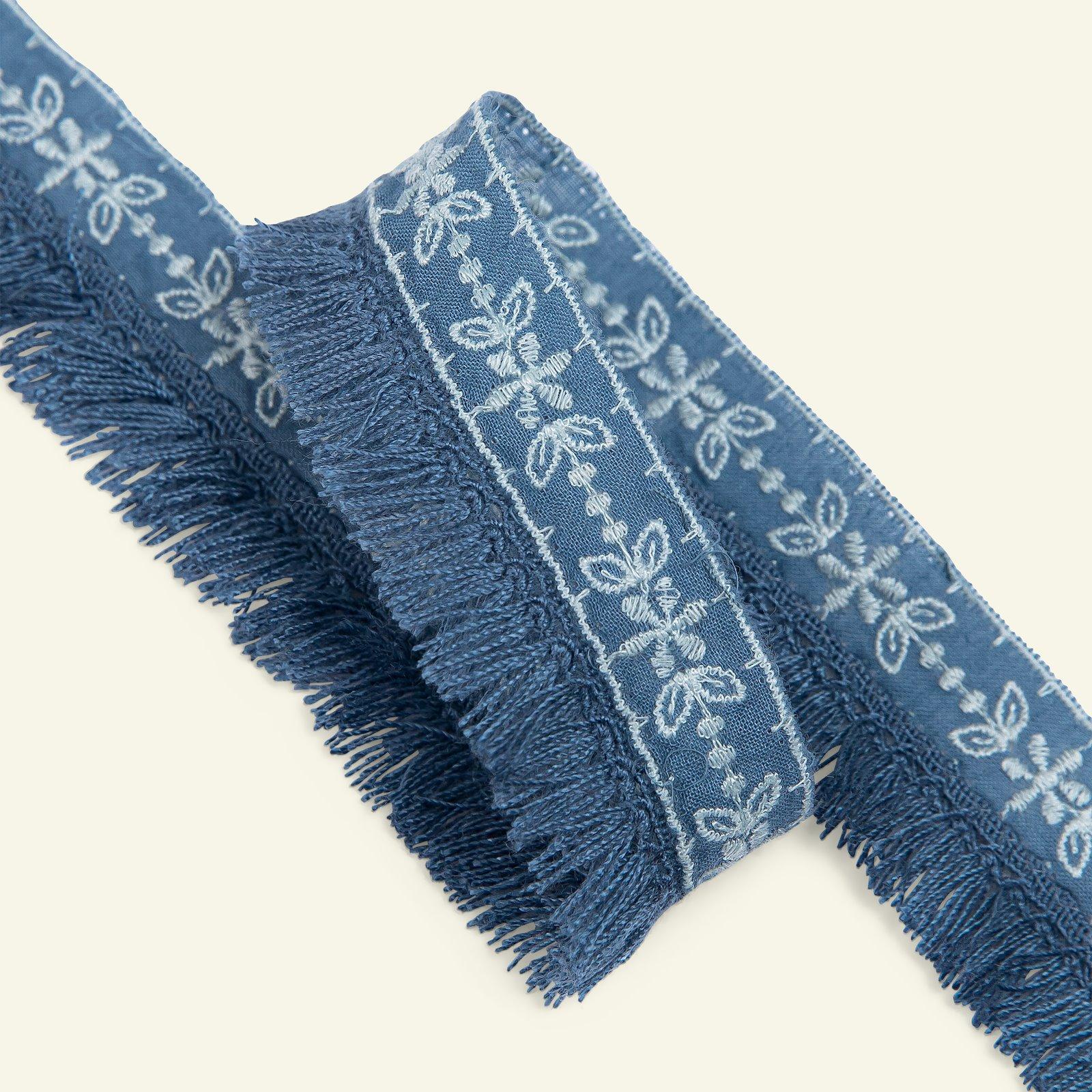Ribbon woven w/fringes 30mm cobalt 1,5m 96330_pack