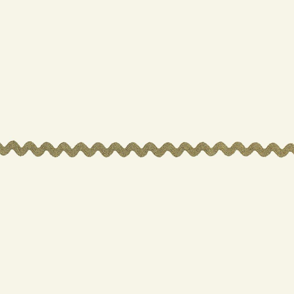 Ric rac ribbon 5mm gold w/lurex 3m 21296_pack