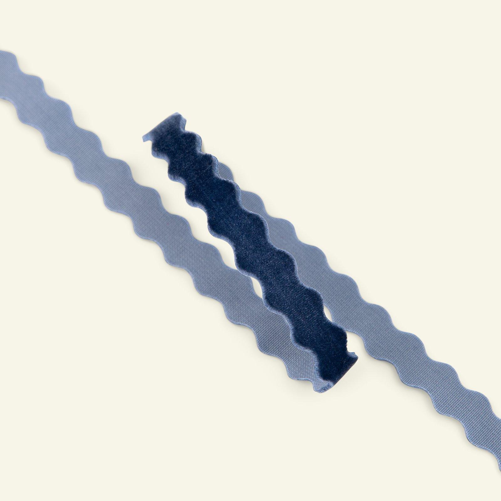 Ric rac velvet ribbon 10mm blue 2m 22210_pack