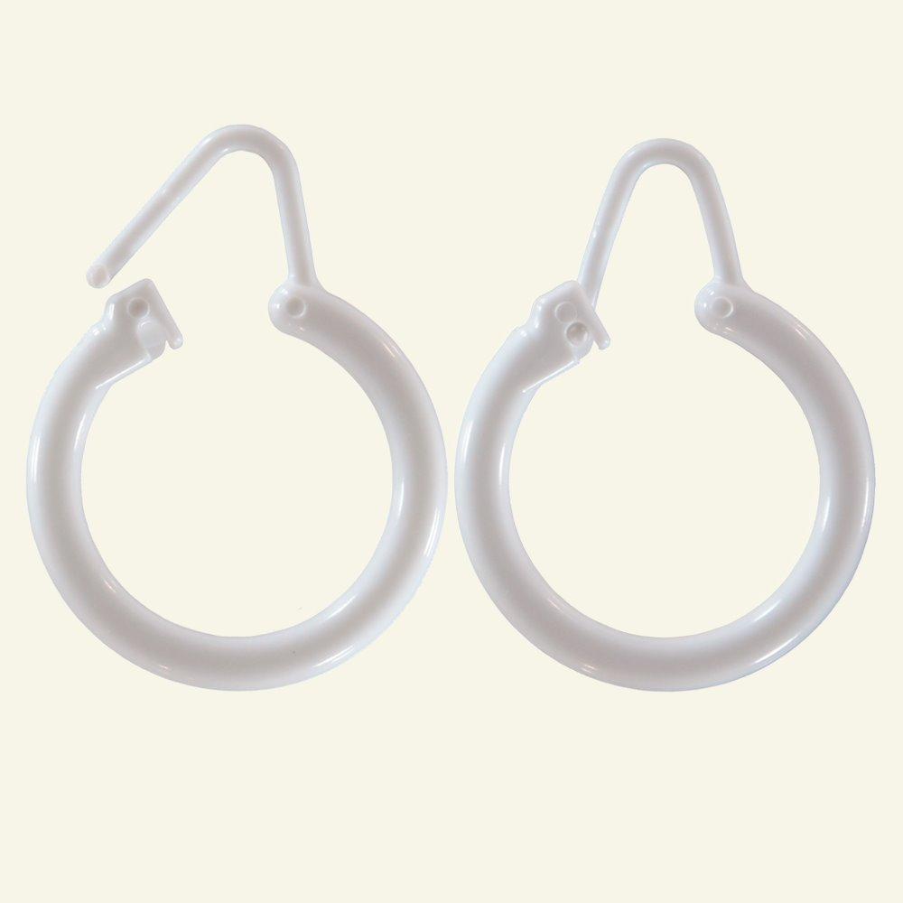 Rings shower curtain white 12 pcs 36091_pack