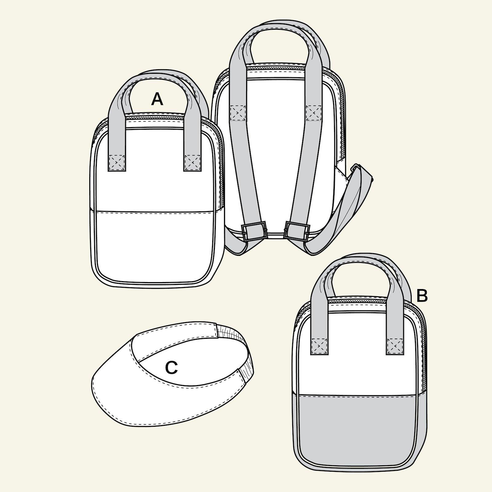 Rucksack and cap p90264_pack