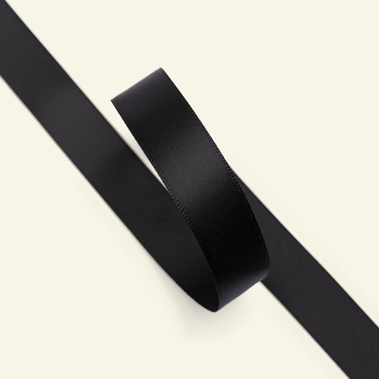 Satin ribbon 15mm black 25m 27343_pack