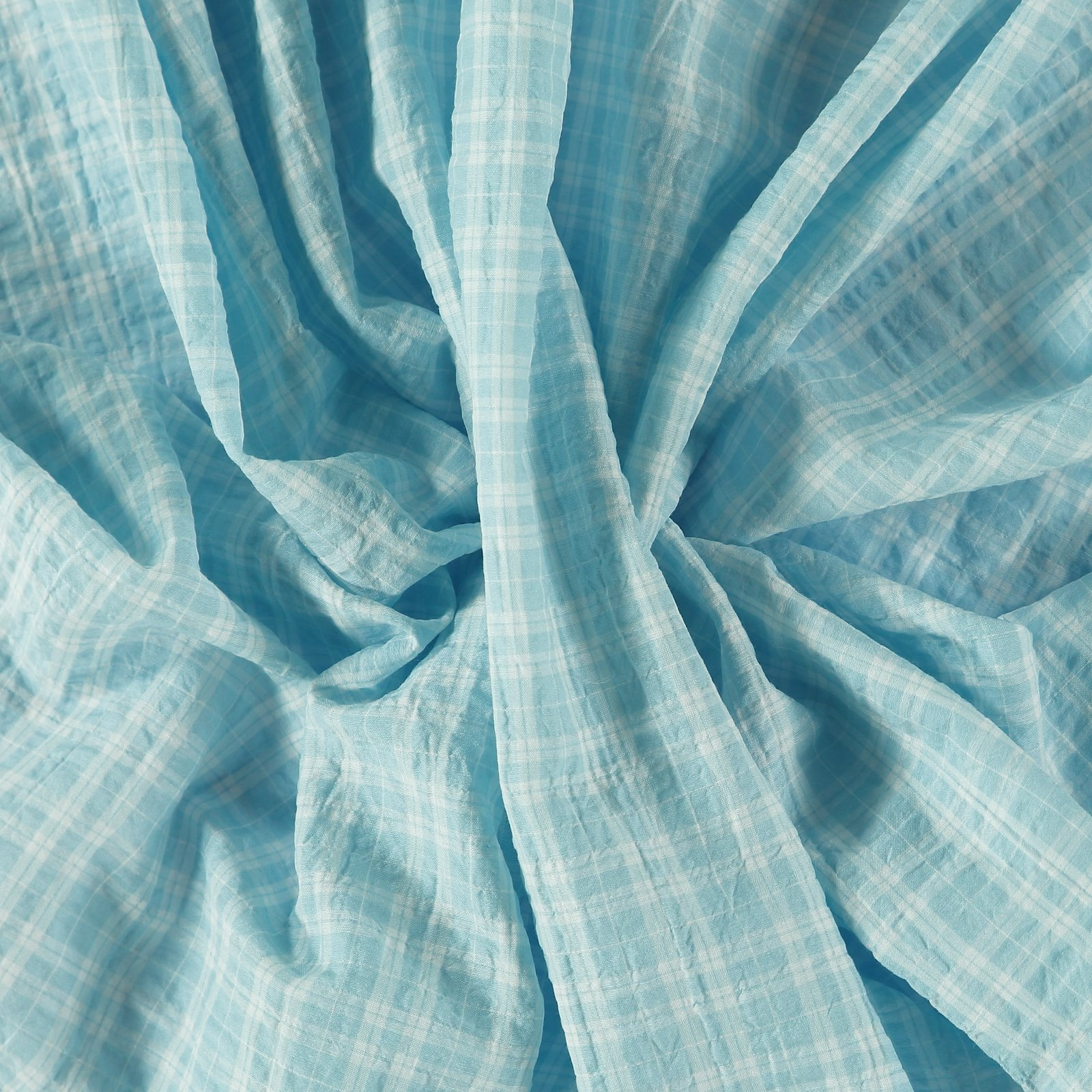 Seersucker baby blue YD check 510965_pack