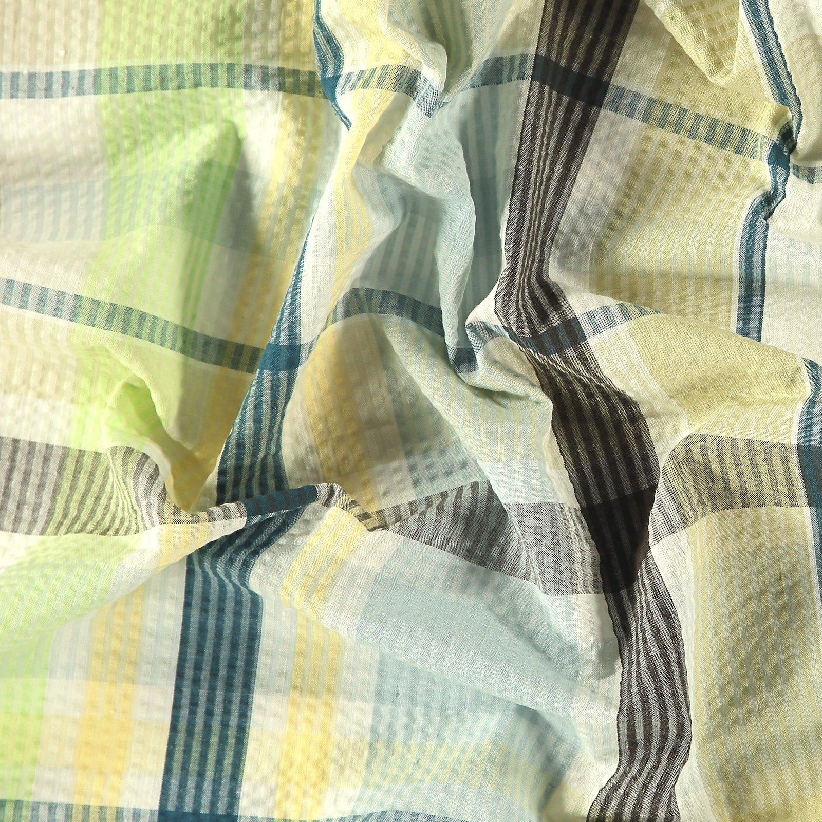 Seersucker blue/green yarn dyed check 580048_pack