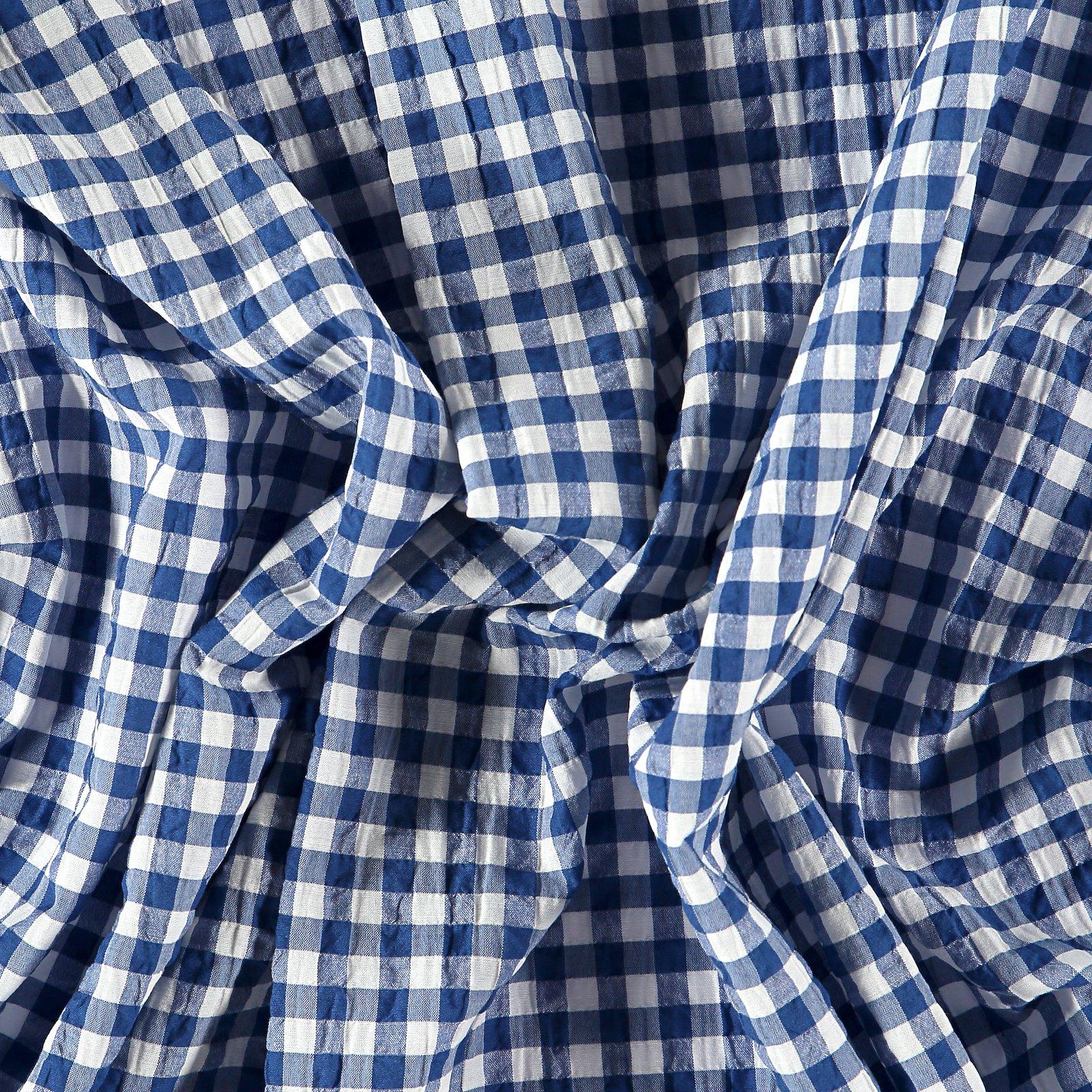 Seersucker blue yarn dyed check 510958_pack