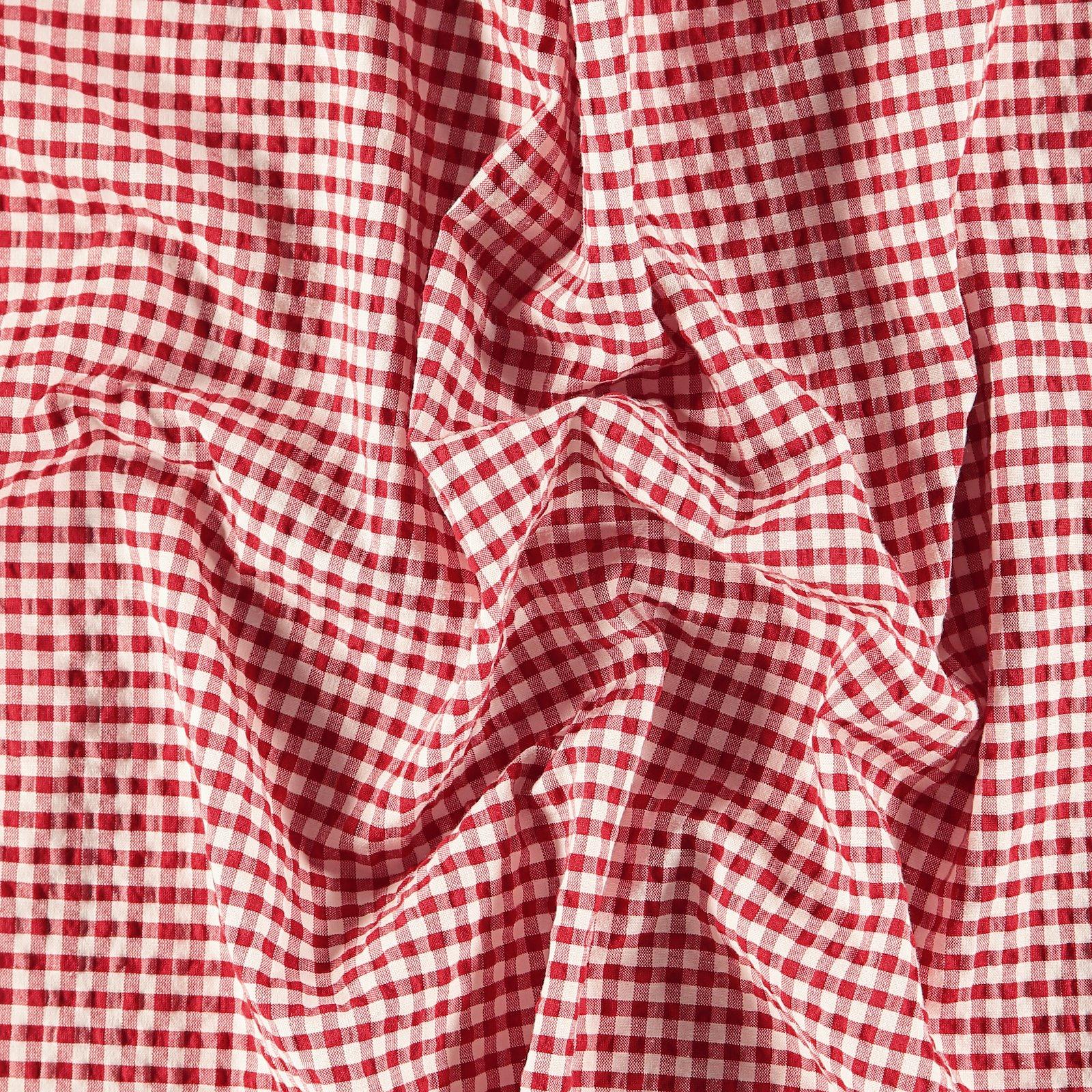 Seersucker petite red/white YD check 580065_pack