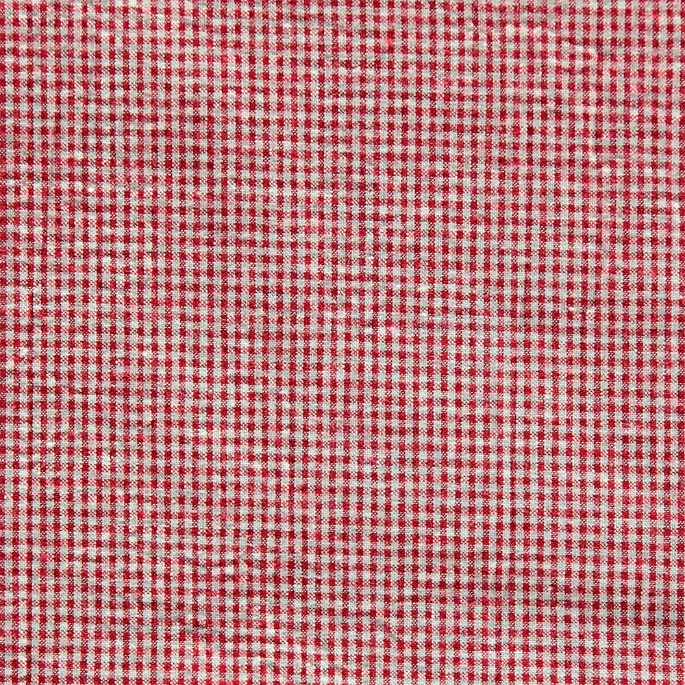 Seersucker red yarn dyed check 510183_pack