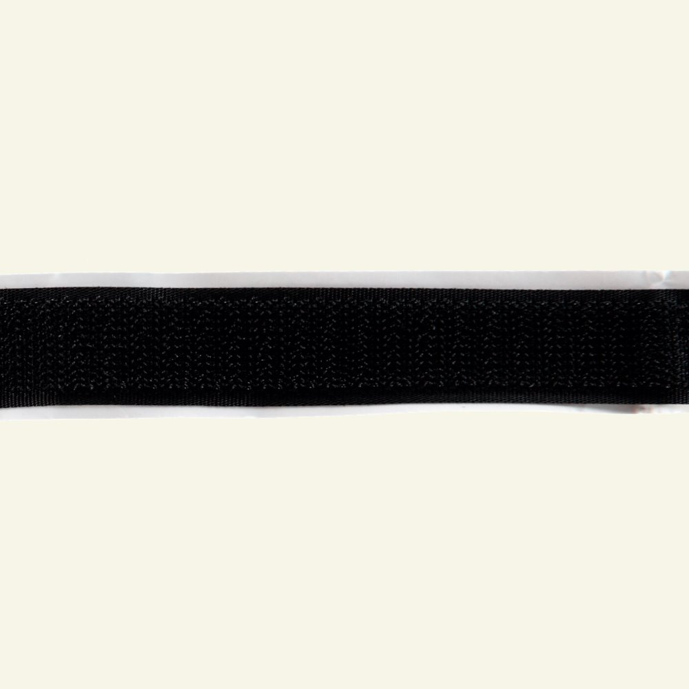 Self-adhesive Hook tape 20mm black 25m 30203_pack