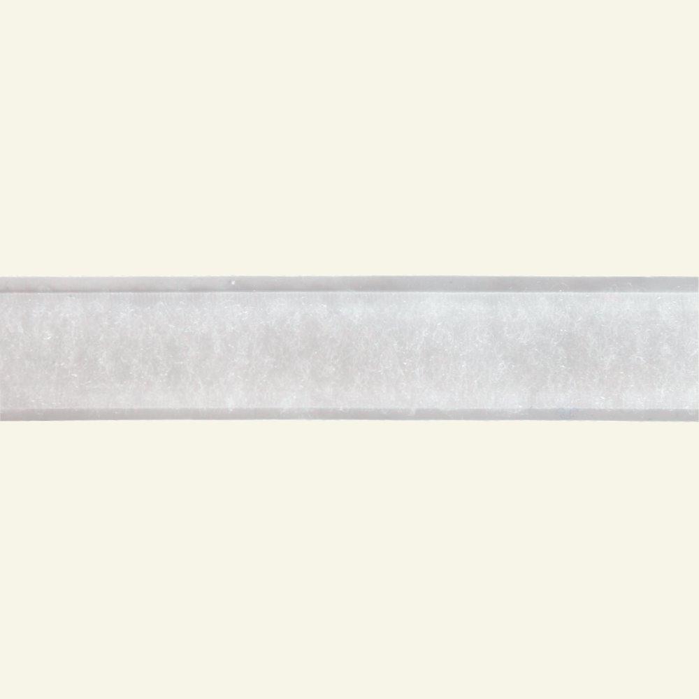 Self-adhesive Loop tape 20mm white 25m 30202_pack