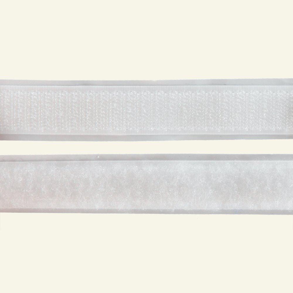 Selfadhesive Hook/Loop tape20mm whit50cm 30201_pack