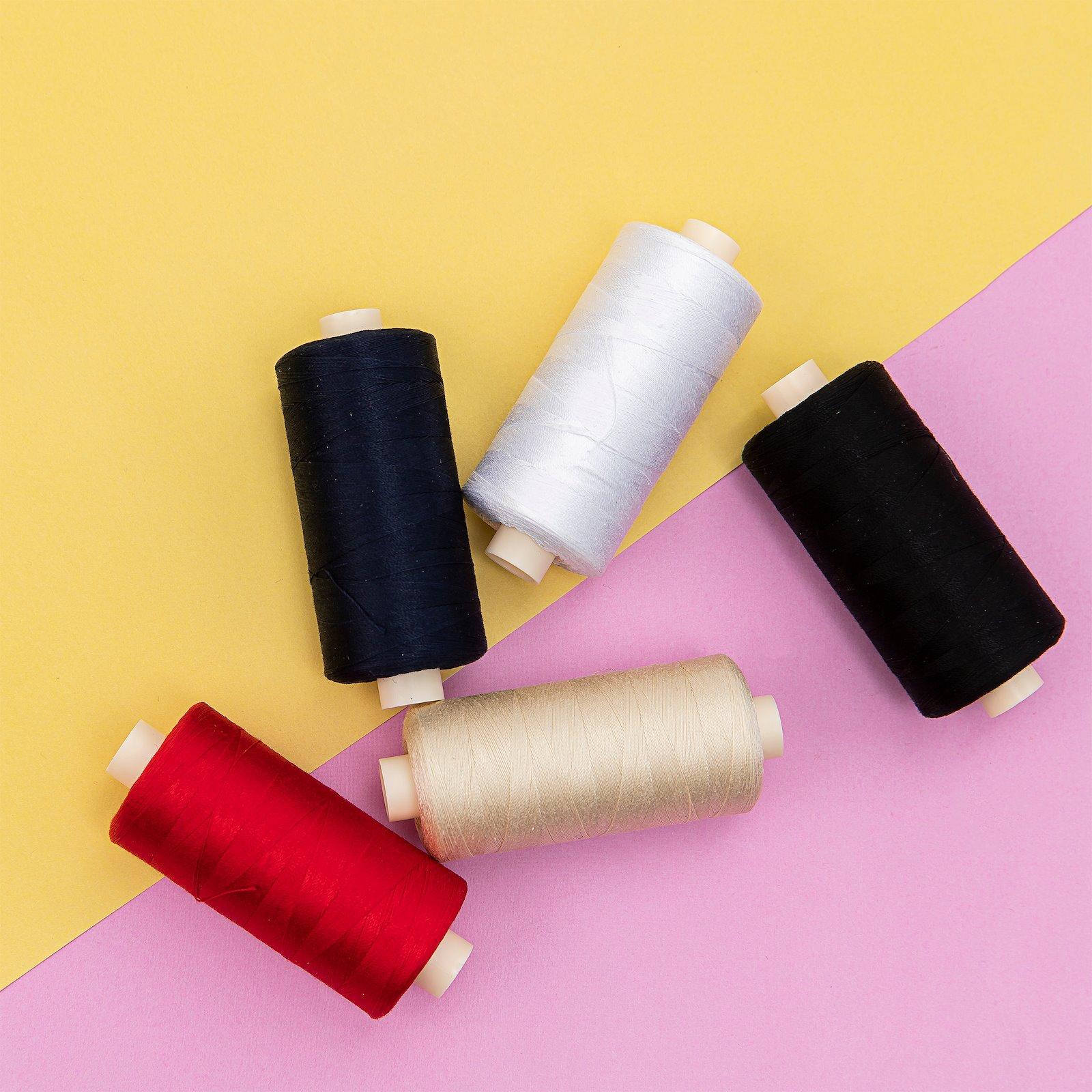 Sewing thread cotton black 1000m 14011_14023_14001_14002_14043_bundle