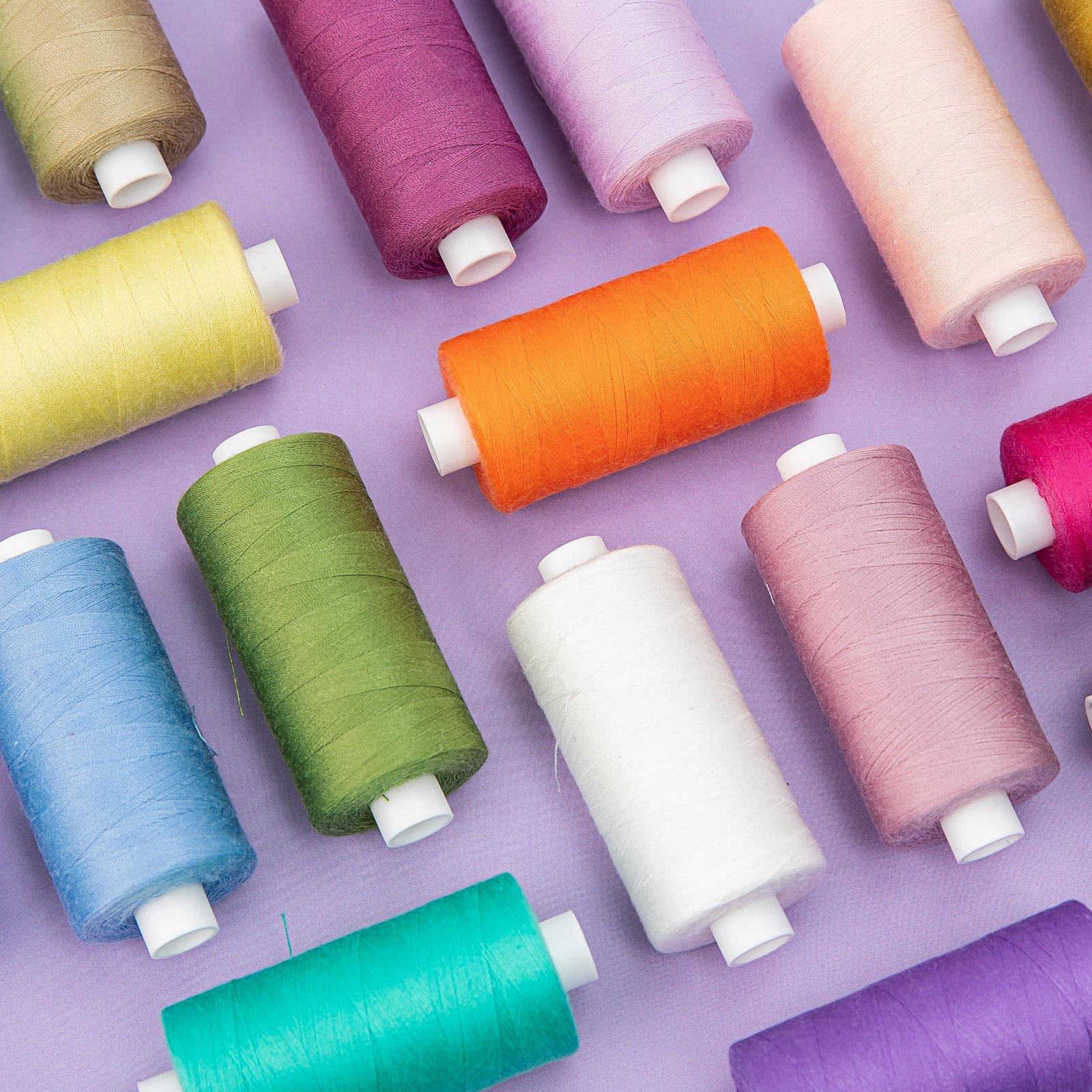 Sewing thread light green 1000m 12057_12098_12048_12010_12107_12019_12004_12002_12069_12108_12086_12062_12006_bundle