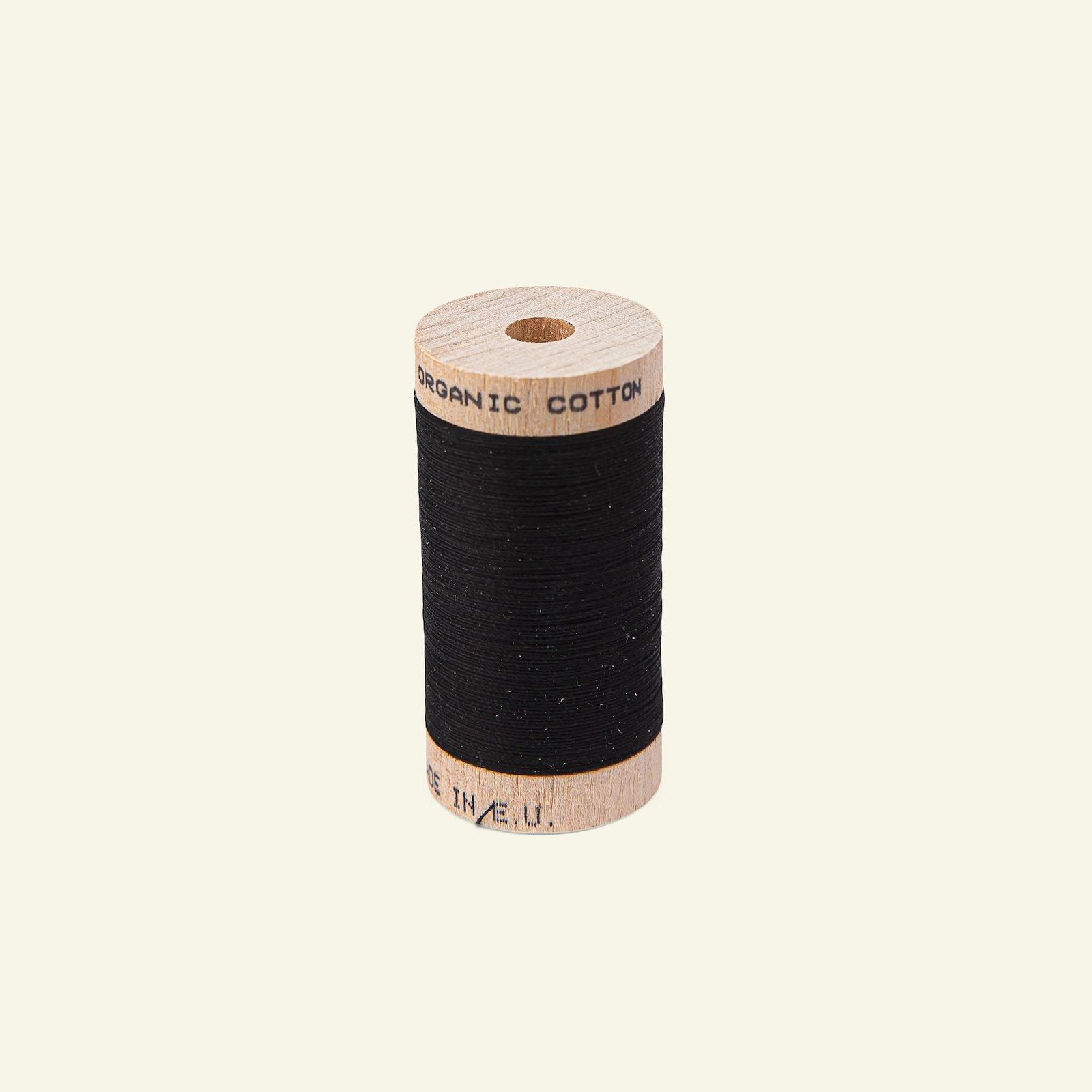 Sewing thread organic cotton black 100m 18043_pack