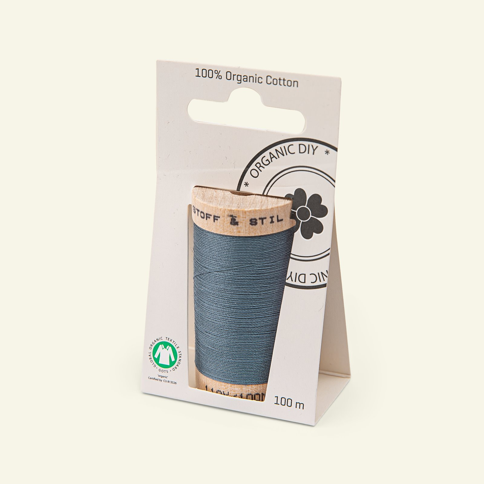 Sewing thread organic cotton blue 100m 18021_pack_b