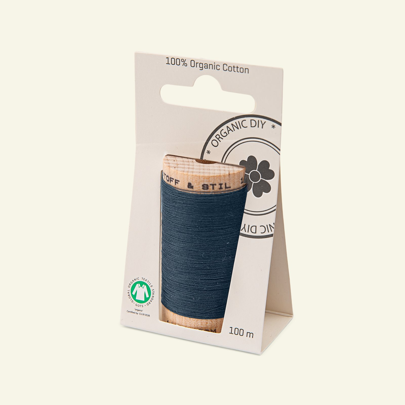 Sewing thread organic cotton navy 100m 18023_pack_b