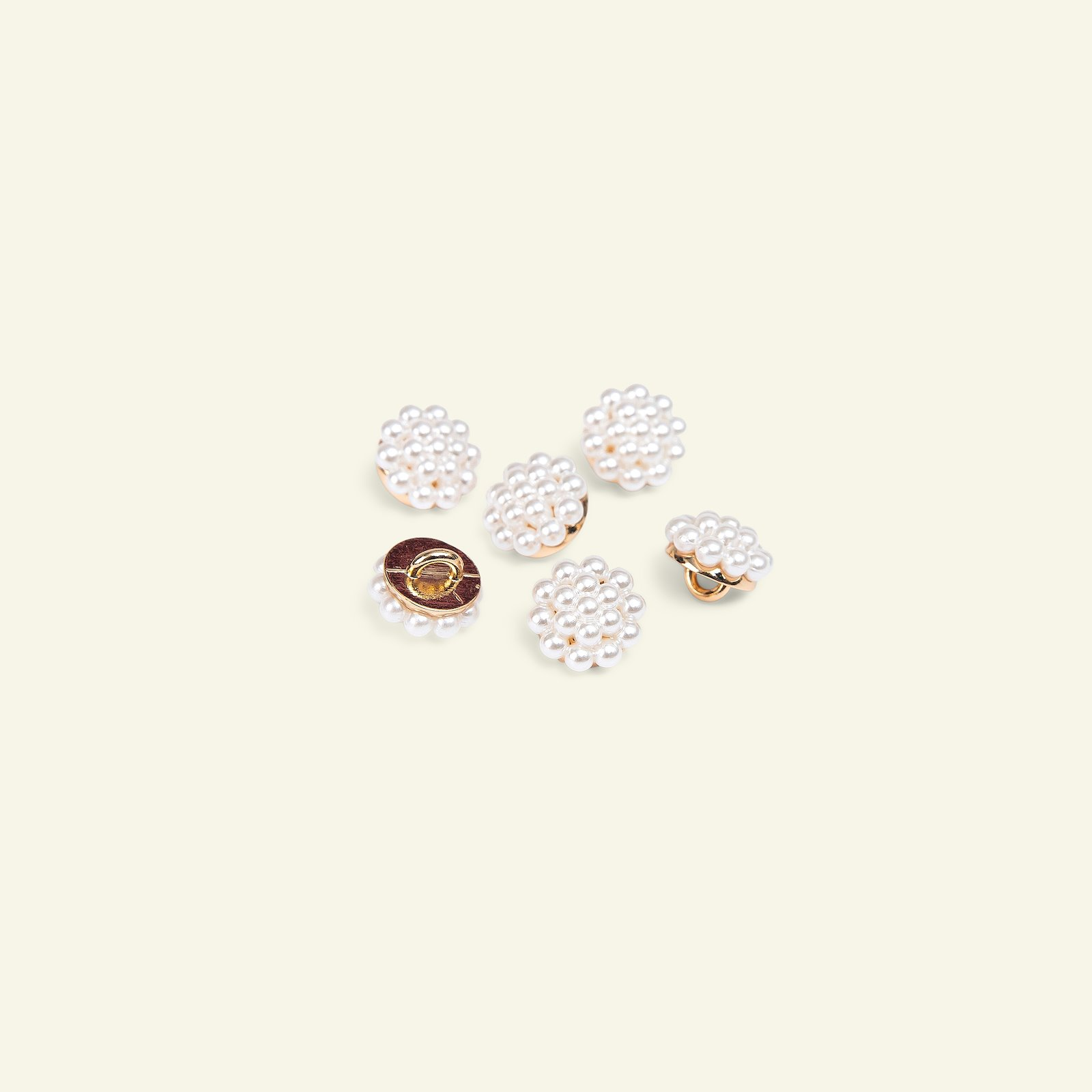 Shank button 11mm m. of pearl/gold 6pcs 40598_pack