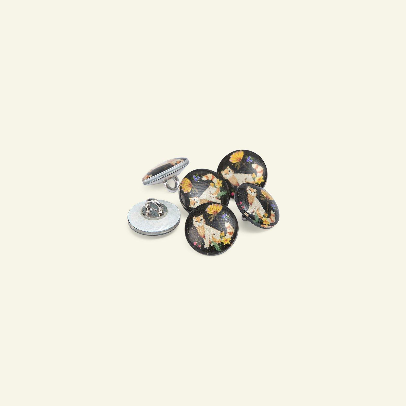 Shank button 15mm cat 6pcs 40591_pack