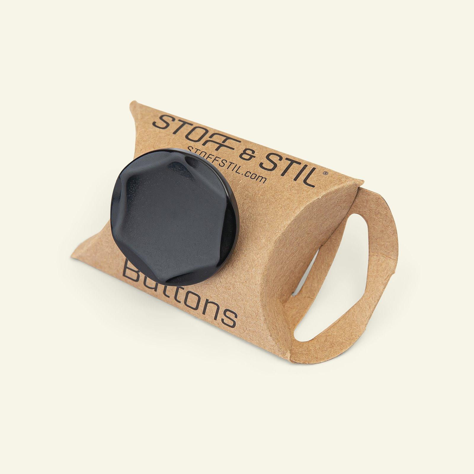 Shank button 30mm black 2pcs 33174_pack_b