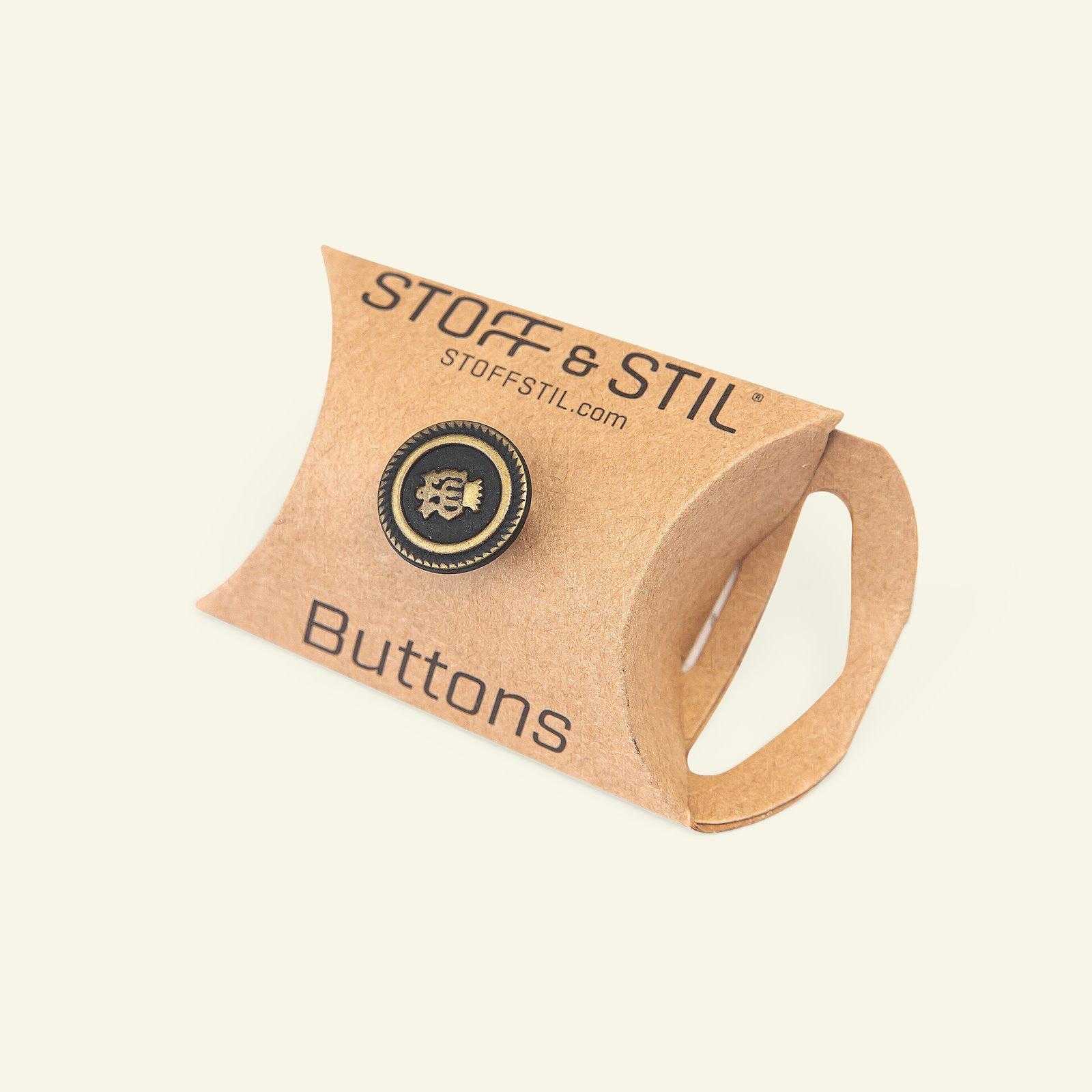 Shank button metal 14mm black/gold 4pcs 33597_pack_b
