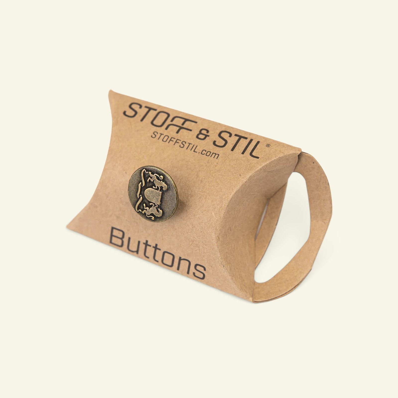 Shank button metal 15mm dark gold 10pcs 33588_pack_b