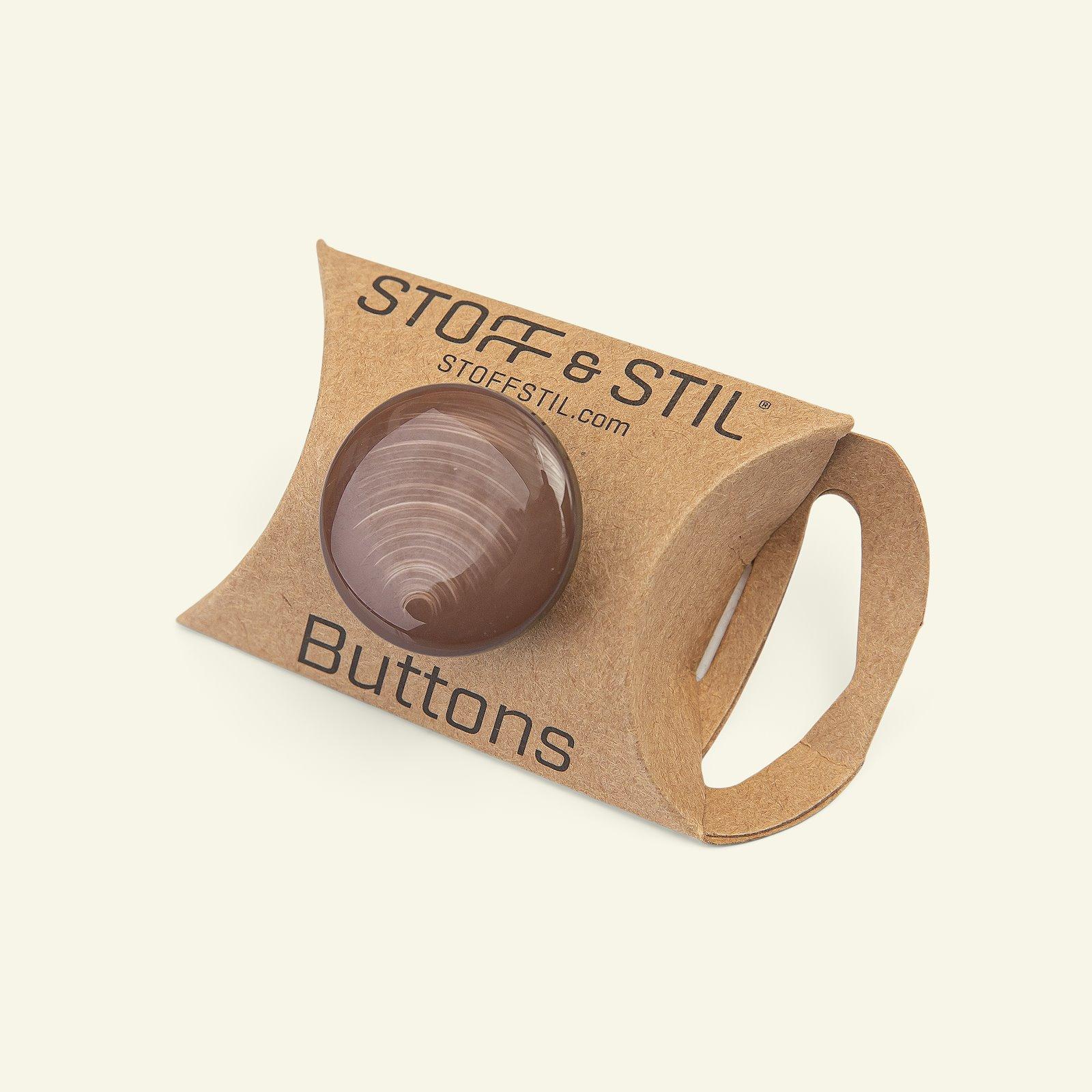 Shank button shiny 25mm brown 3pcs 33402_pack_b