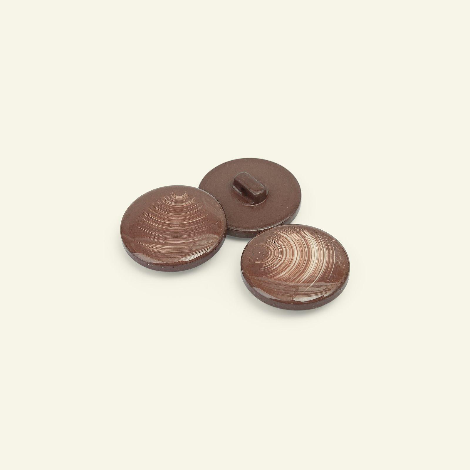 Shank button shiny 25mm brown 3pcs 33402_pack