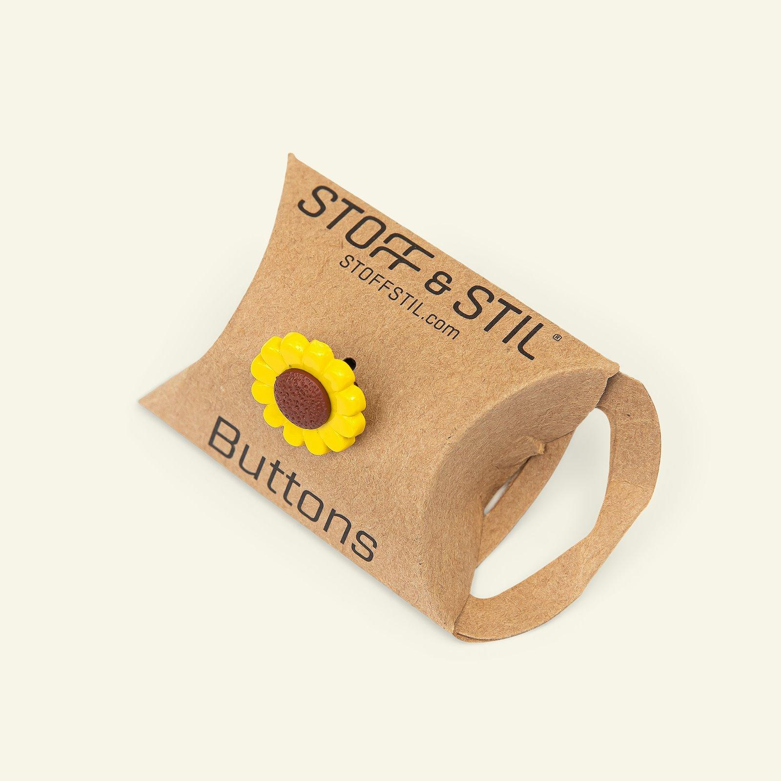 Shank button sunflower 18mm yellow 4pcs 33297_pack_b