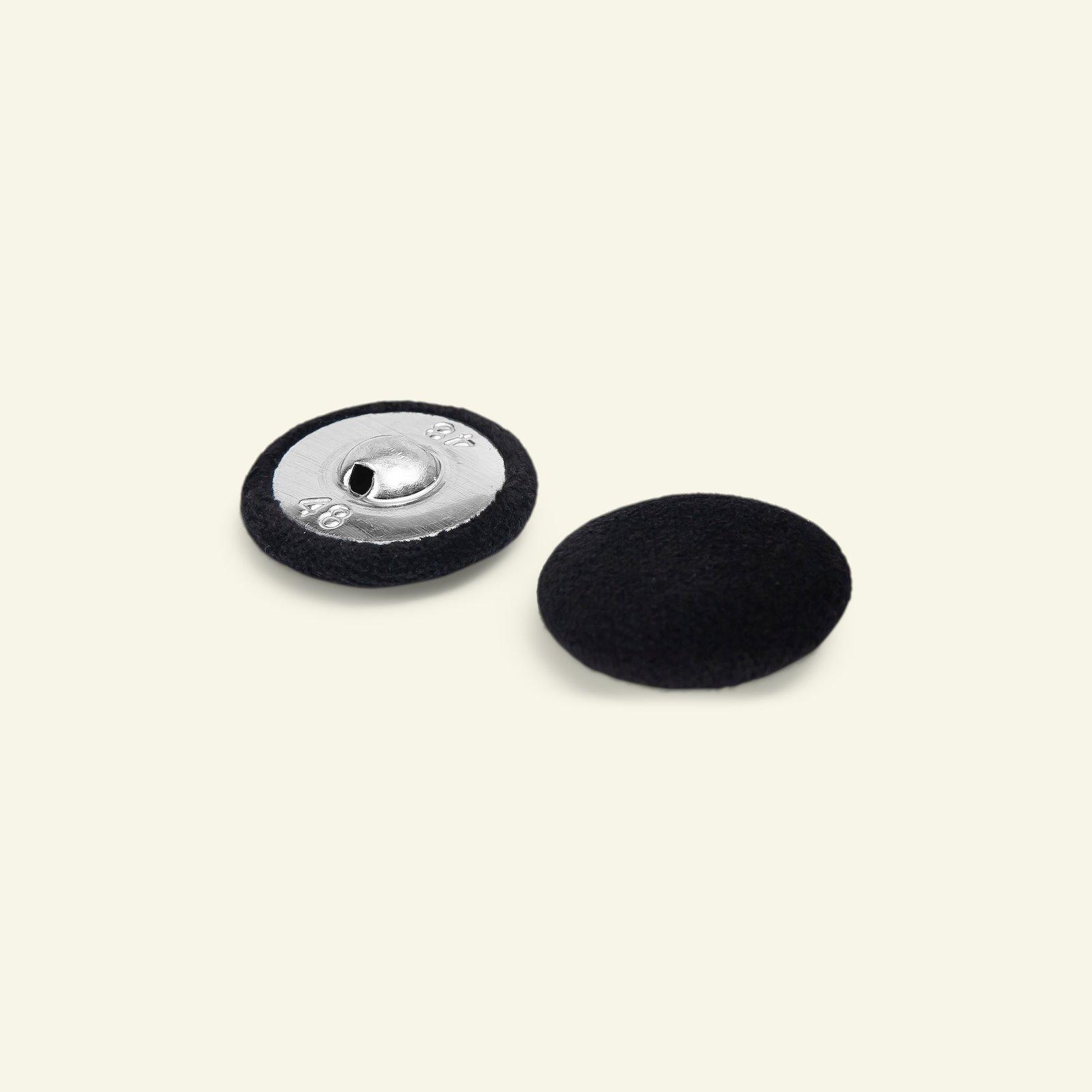 Shank button velour 30mm black 2pcs 40520_pack